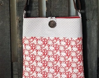 Red Country floral Crossbody