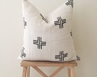 Double Cross | Mudcloth Pillow