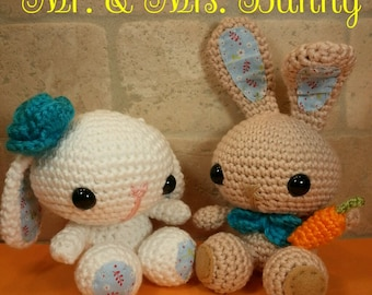 Spring Bunny Couple, Easter Set