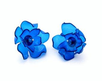 Stud earrings Earrings stud Studs earrings Earrings studs Stud earring Earring stud Ears stud Blue flower earrings Blue flower Blue earrings