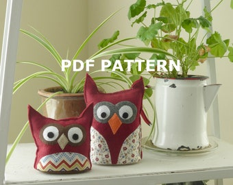 Felt Tabletop Owl Pattern