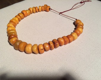 Ancient Tibetan Amber Teething Necklace