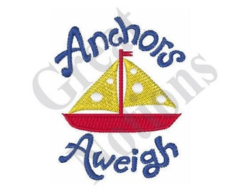 Anchors Aweigh - Machine Embroidery Design