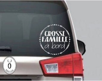 Sticker big family on board