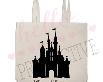 Personalized Disney Castle Tote Bag