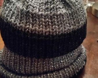 Beanie dark gray/black winter hat