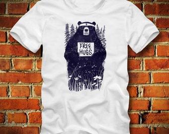 BOARDRIPPAZ Free Hugs T SHIRT Bear Shirt Hipster Shirt Panda Grizzly Boston Red Sox Dope Swag Free Hugs Shirt Bear T Shirt Hipster T Shirt