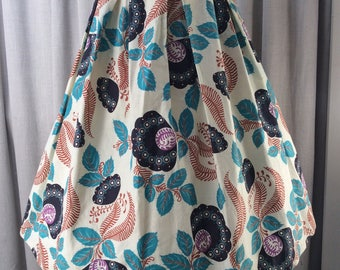 Great 1950's Pleated Skirt with Fab Stylised Floral Print