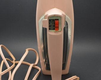 Vintage Pink Electric Beater Mixer, Atomic Pink Electric Hand Mixer, Retro Pink Mixer