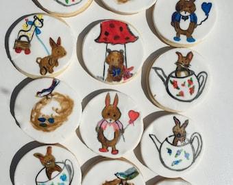 Painted Easter sugar cookies