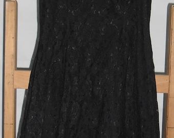 Black 50s style lace dress