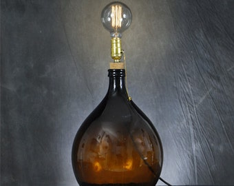 Bottlelamp Bombato Marrone Piccolo