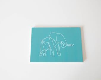 Elephant Art print-Graphic animals 13 x 18