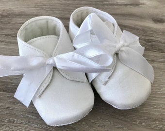 Baby boy satin boots shoes christening shoes baptism