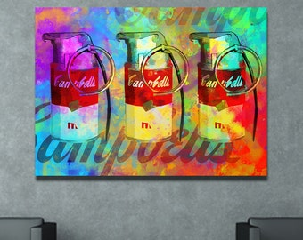 Campbell Grenade Andy Warhol Inspired Printable Wall Pop Art