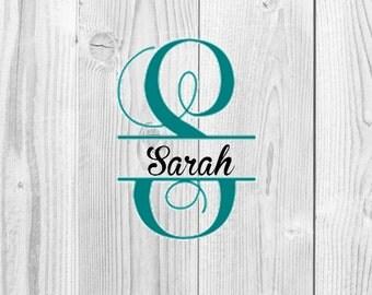 Split Vine Letter Collection Digital Design, Vine Monogram, Split Vine Letters, Alphabet, Split Letters, SVG, DXF, Eps, Jpg, Png
