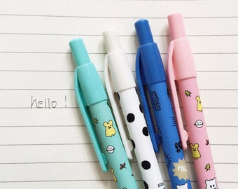 4 Pc Set ~ Cute Ghost Mechanical Pencils ~ Kawaii Pencils ~ Ghost, School Supplies, Planner Accessories, Pencils, Writing Tools, Cute Pencil