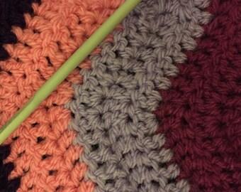 Custom Ripple Stripe baby blanket
