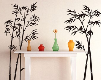 Bamboo Wall Sticker Removable Art Home Livingroom Decor