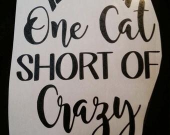 Crazy cat lady vinyl sticker