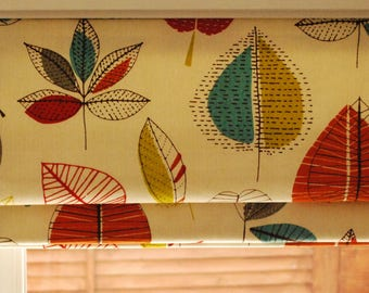 Roman blinds, bespoke and hand made in a variety of sizes and fabrics