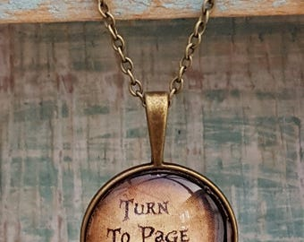 Harry Potter 'Turn To Page 394' Necklace