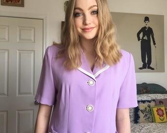 80's Purple Blouse