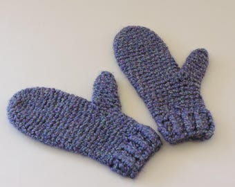 Small Cozy Crocheted Mittens