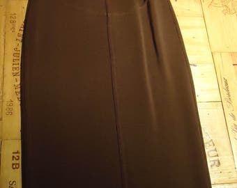 Authentic Vintage Azzedine ALAIA * Viscose Stretch pencil skirt * Brown * TM * very good condition * sexy & elegant