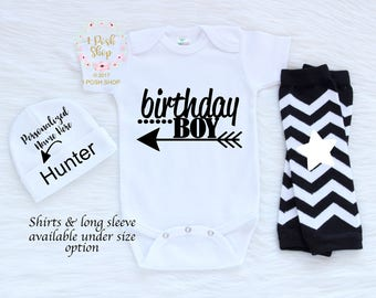 First Birtday Outfit Boy, Cake Smash Oufit Boy 1st Birthday Outfit Boy, 1st Birthday Shirt, First Birhtday Bodysuit, Smash Cake Outfit BB3