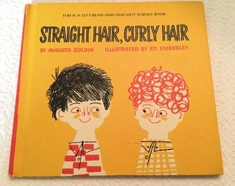 1966 Vintage Children's Book: Straight Hair-Curly Hair