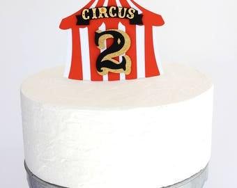 Circus cake topper, circus party, circus birthday, circus theme, circus decorations, carnival party, carnival cake topper, circus tent