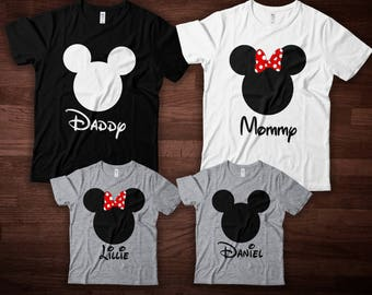 Disney Family Shirts - Personalized Disney Shirts for Family Shirts Matching Disney Shirts Custom Vacation
