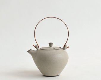 Tea pot (SS-White), Made to Order in 2 months ; Mineko Nishimura  (Studio Keizan) 16006206-SSW
