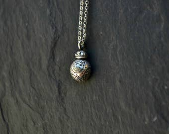 BB-8 Star Wars Necklace Jewelry, BB 8 Droid Jewelry, Geekery Star Wars Movie Gift Jewelry, 925 Sterling Silver