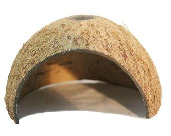 ATHIPPHY Natural Kalala Hut-Eco Friendly, Non-toxic, Made of Real coconut shells:Unique Aquarium Decoration
