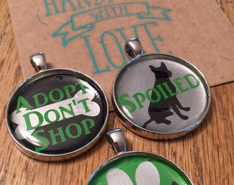 Dog Charms, Pet Jewelry, Dog Tags, Dog Name Tags, Dog Jewelry, Adopt Don't Shop, Animal Lover