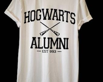 Hogwarts Alumni tshirt, Harry Potter Tshirt, Funny Tshirts, Print shirt, Film tshirt, Personalized T-shirt, Boyfriend Gift, Men T-shirt