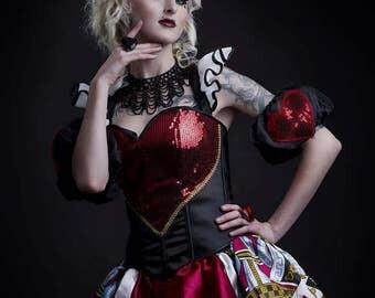 Quuen Of Hearts Alice In Wonderland Cosplay