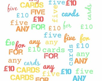ANY 5 CARDS OFFER!!!