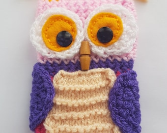 Knitted Owl Mobile Phone Case