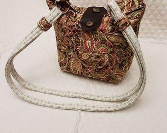 One of a kind Handmade Paisley Print Handbag