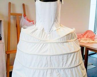 Rococo corset, rococo petticoat, roroco lingerie
