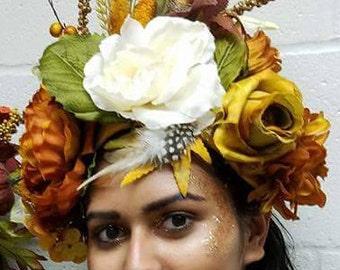 Fall harvest fairy headpiece, renaissance festival, cosplay, wedding, halloween costume
