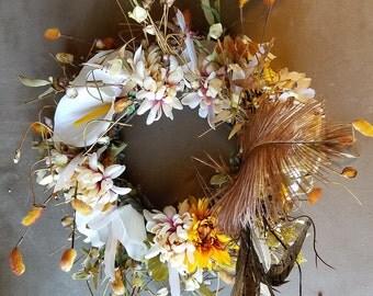 White calla lily wreath fairy headpiece, renaissance festival, cosplay, wedding, halloween costume