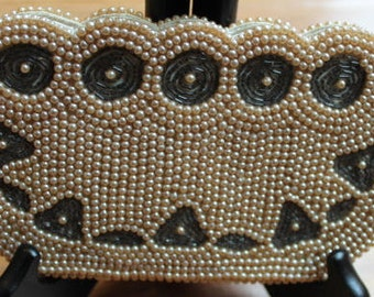 Antique Hand Beaded Clutch Purse