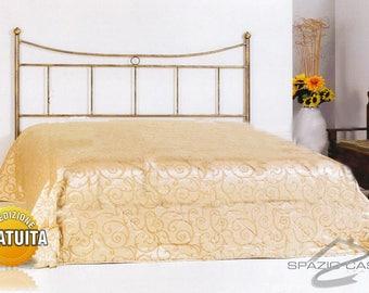 Handcrafted header/wrought iron bed headboard Erika