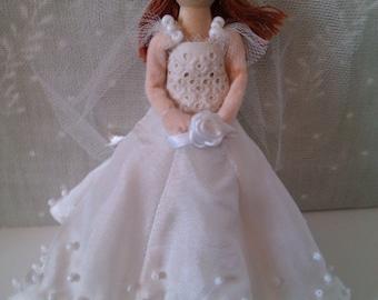 Bride Peg Doll