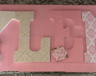 Custom wood letters for nursery