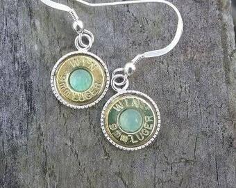 Gemstone Bullet Earrings
